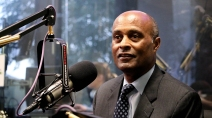 Arizona State University Vice President for University Athletics and Athletic Director Ray Anderson does an interview with The Doug & Wolf Show on 98.7 FM Arizona's Sports Station on Wednesday, Feb. 14, 2018. (Matt Layman/Arizona Sports)
