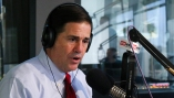 Arizona Gov. Doug Ducey speaks during an interview with Mac and Gaydos on KTAR News 92.3 FM in Phoenix, Ariz. on April 10, 2018. (Matt Layman/KTAR News)