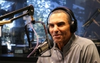 ASU football head coach Herm Edwards sits for an interview with The Doug & Wolf Show on 98.7 FM Arizona's Sports Station on Feb. 11, 2019. (Arizona Sports/Matt Layman)